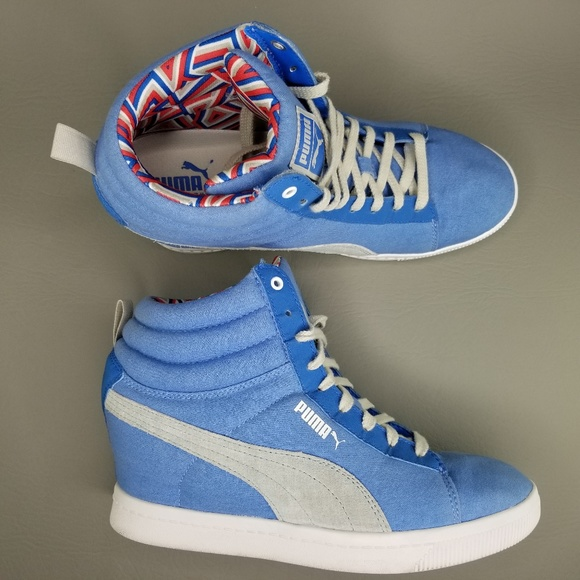 Puma Wedge Sneakers. Size 10